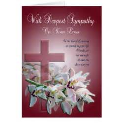 with deepest sympathy card zazzle