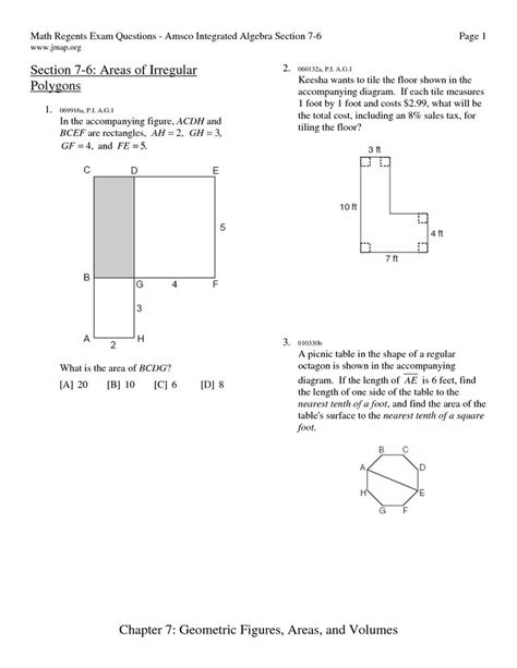 Area Of Irregular Shapes Worksheets by Area Of Polygons Worksheets Free Area Irregular Polygons