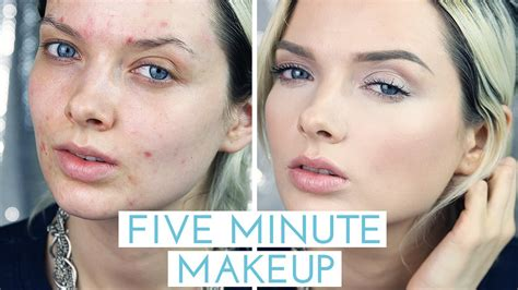 blogger skin tutorial acne coverage five minute makeup tutorial mypaleskin