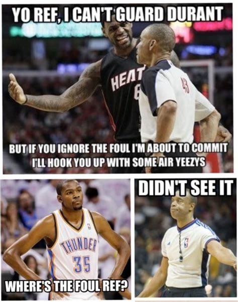 Nba Memes - nba ref memes lebron james can t guard kevin durant meme
