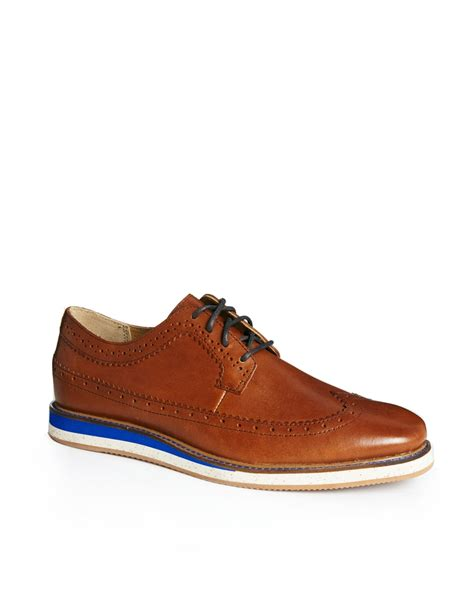 brown oxford shoes with hush puppies 174 oxford shoes in brown for lyst