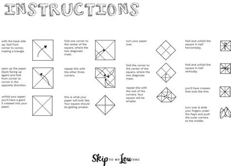 How To Make Fortune Tellers With Paper Steps By Steps - printable paper fortune teller to keep the busy at