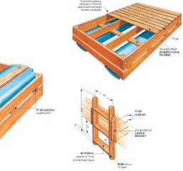 Twin Bed Platforms - wood raft frame plans woodproject