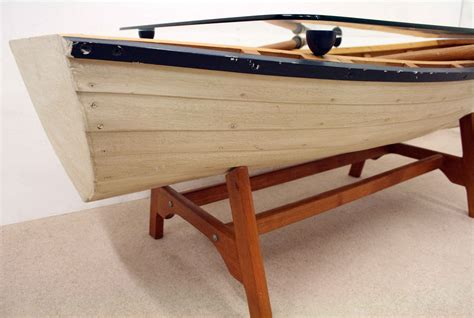 Boat Coffee Table Model Rowing Boat Coffee Table Decorative Collective