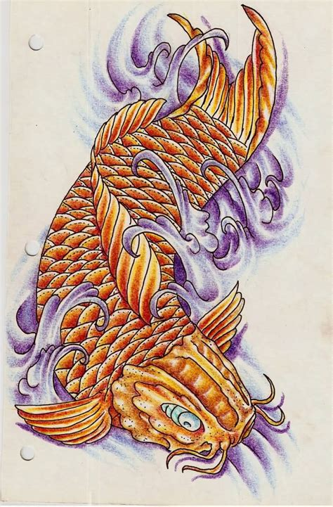 dragon koi fish tattoo design idea