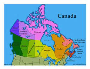 color map of canada canada introduction