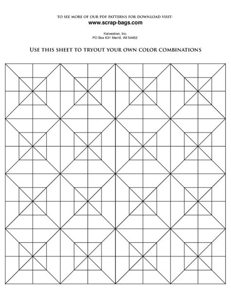 free coloring pages of a quilt