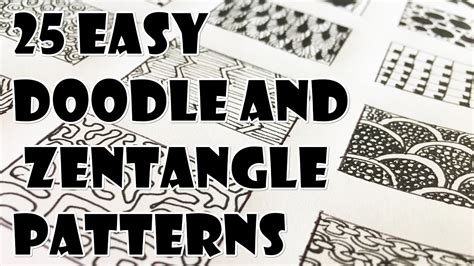doodle patterns youtube doodle zentangle patterns 2017 sketchbook sculptures