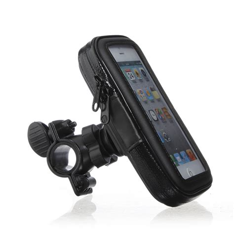 bicycle waterproof phone pouch handlebar mount holder for iphone5 alex nld