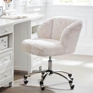 Blue Fuzzy Desk Chair Polar Wingback Desk Chair From Pbteen Bedroom
