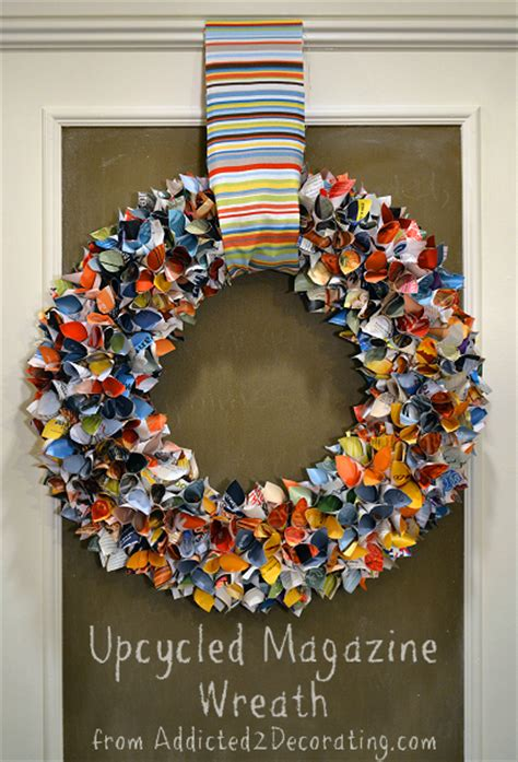How To Make Paper From Magazines - diy upcycled magazine wreath totally green crafts