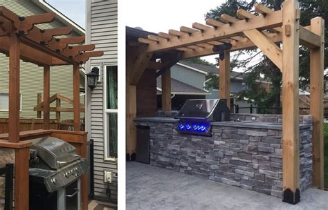 outdoor patio bbq curved grill stands barbecue shelters