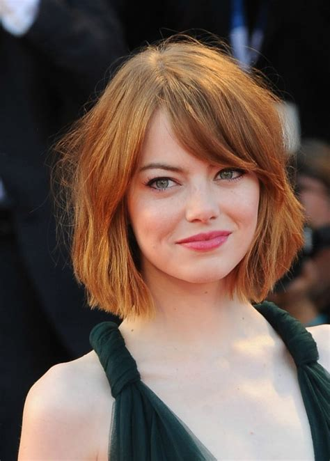emma stone hairstyle 2015 celebrity hairstyles 2015 best celebrity hairstyles bobs and lobs to gush over