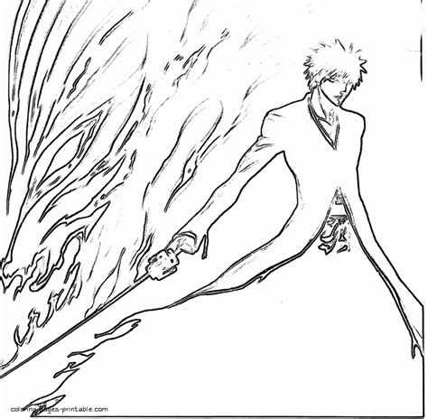 bleach coloring pages 3 gif az coloring pages