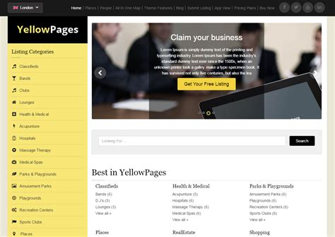 wordpress theme free yellow top 15 directory and listing free and premium themes for
