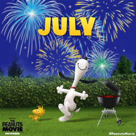 peanuts   twitter happy july heres   great month  hot dogs fireworks