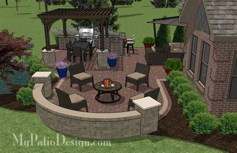 Outdoor Entertainment Patio Design With Pergola And Bar My Patio Design