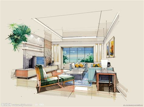 glenunga home drafting design 手绘室内效果图设计图 室内设计 环境设计 设计图库 昵图网nipic com
