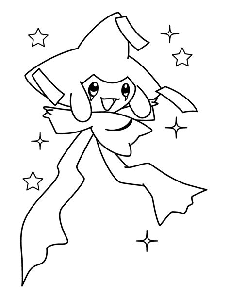 pokemon coloring pages jirachi jirachi pokemon coloring pages download and print for free