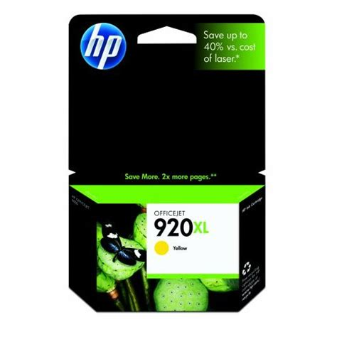 Tinta Hp 920xl Yellow Cartucho Tinta Hp 920xl Yellow Cd974a