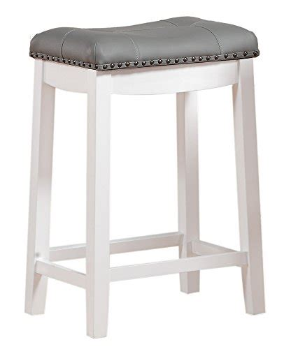 Line Cambridge Padded Stool by Line Cambridge 24 Quot Padded Saddle Stool White With