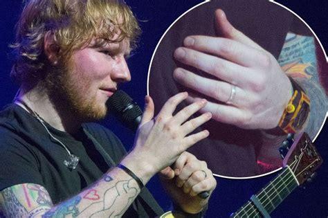 ed sheeran married ed sheeran secretly married singer sported with a