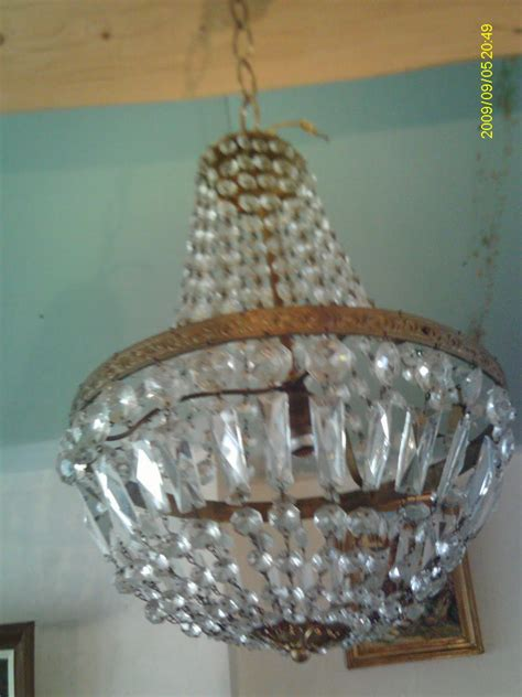 lustre montgolfiere ancien lustre pille montgolfiere cage cristal verre