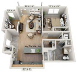 Rectangle House Plans One Story interior perspective living room 2br net zero village