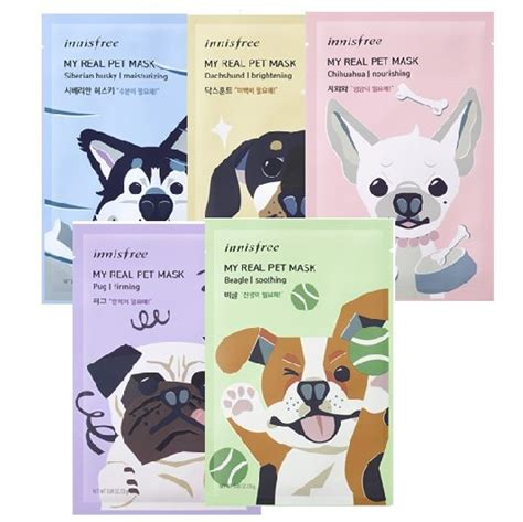 Innisfree My Real Pet Mask Sheet innisfree my real pet mask korean cosmetic skincare product shop malaysia china thailand
