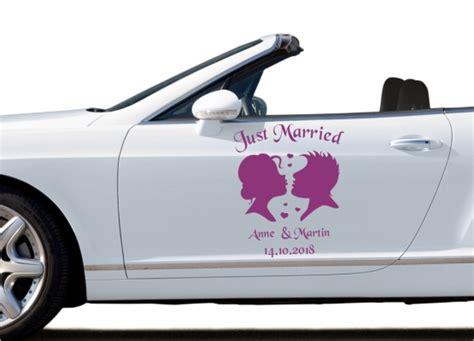 Auto Sticker Hochzeit by Autoaufkleber Hochzeit Silhouette Brautpaar