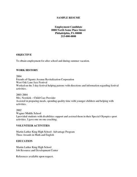 gallery free printable resumes fill in the blank