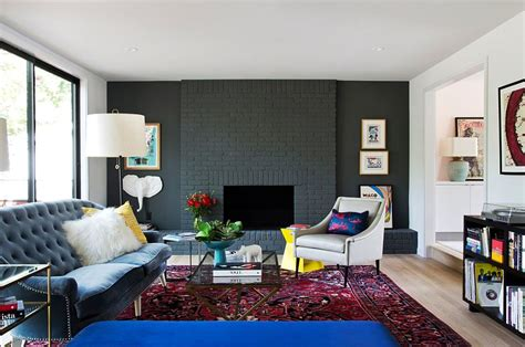 Blue Living Room Walls by 100 Brick Wall Living Rooms That Inspire Your Design
