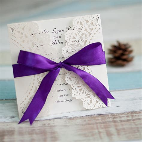 Cheap Purple Wedding Invitations by Purple Wedding Invitations Cheap Invites At