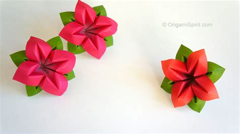 Origami Flower Leaves - origami flower flor de papel 4 p 233 talos
