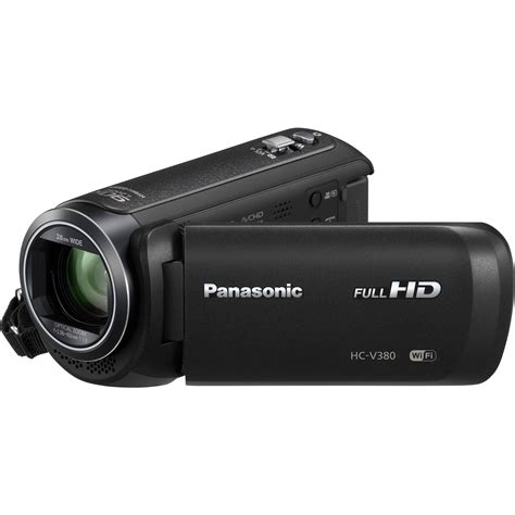 and camcorder panasonic hc v380k hd camcorder hc v380k b h photo