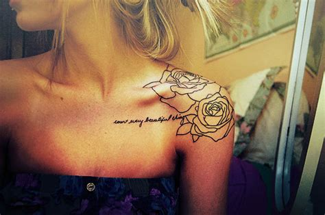 rose shoulder tattoos tumblr count every beautiful thing on