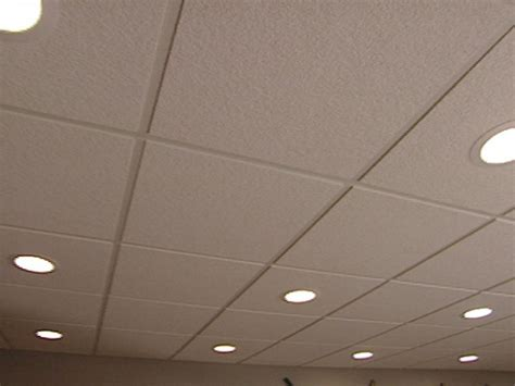 Lights In Suspended Ceiling How To Install An Acoustic Drop Ceiling How Tos Diy