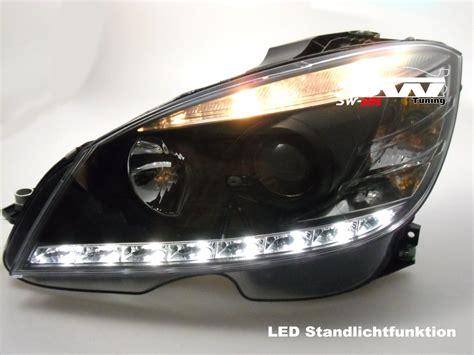 mercedes c class headlights sw drl headlights for mercedes benz c class w204 led drl