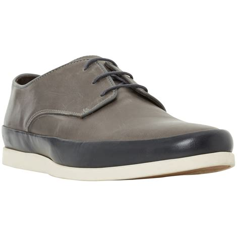bertie breezy contrast rand lace up shoes in gray for