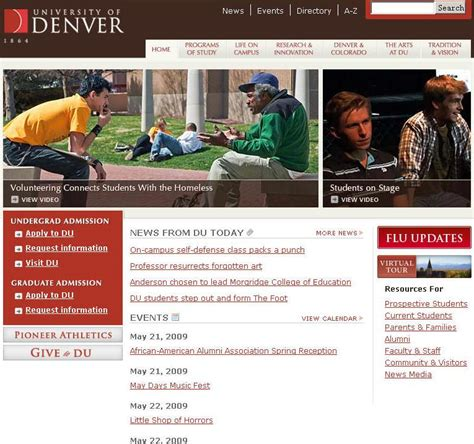 Uc Denver Mba Requirements by Of Denver Average Sat And Act Scores Gpa