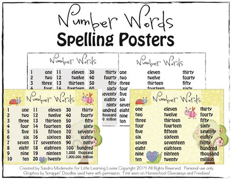 printable numbers with words 6 best images of printable spelling number words