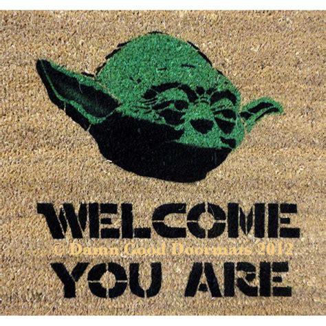 Yoda Door Mat sale welcome you are mat novelty stuff by