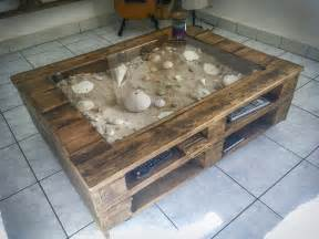 Sizes Of Kitchen Cabinets Beachy Keen Pallet Coffee Display Table Table Basse Avec