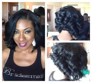 layered bob sew in hairstyles for black for partial sew in bob with indie remy yelp