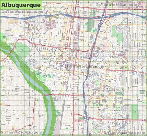 maps albuquerque albuquerque bike map
