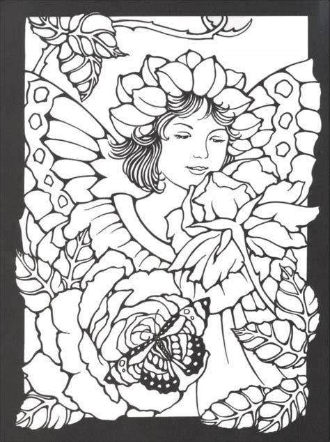 stained glass coloring book magic garden fairies stained glass coloring book 000466
