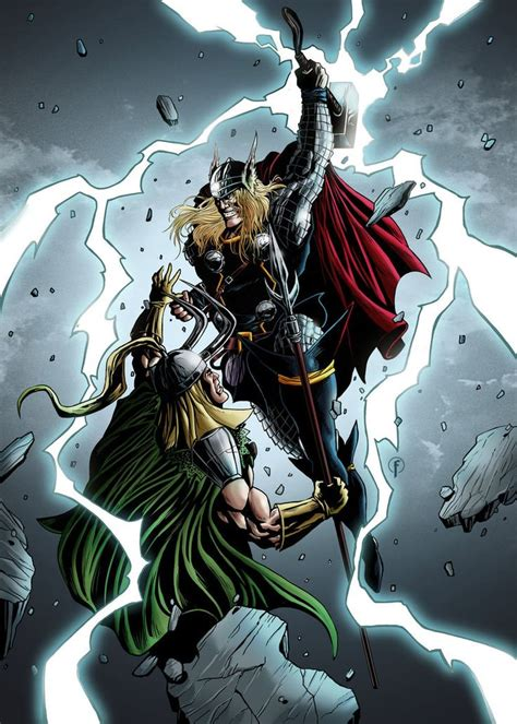 thor movie vs comic 17 best images about comic art thor god of thunder on