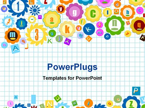 powerpoint template squared notebook background with