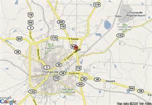 thomasville map map of days inn thomasville thomasville