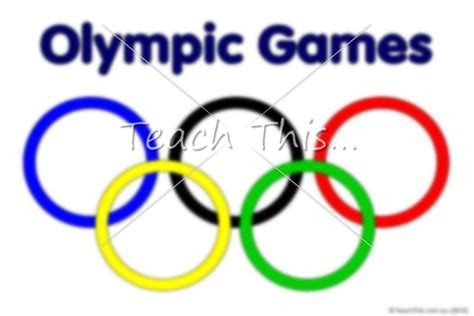 Rings olympic rings colour winter olympics teacher resources